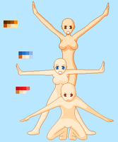 Silly Poses -BaseEdit- by Hyperactive-Insanity