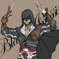 Black Ezio by doubleleaf