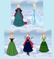 Frozen Outfits by dcfan0590