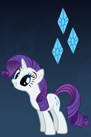 Rarity Wallpaper for iPod touch and iPhone by RainbowTrixie