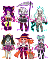 Halloween Adopts! CLOSED! by rap1993