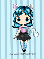 Kitty chibi girl adoptable (closed) by AmericanaCelta