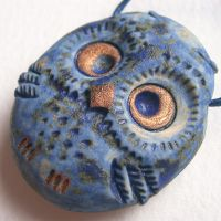 Twilight Owl Ceramic Pendant by c-urchin