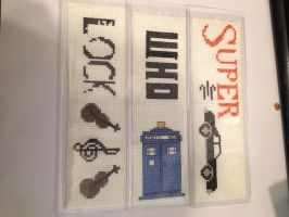 Superwholock Bookmarks by MeiTow