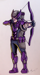 Armored Hawkeye by AnthonyParenti