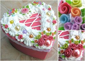 :: Rose Cake deco box :: by decoland
