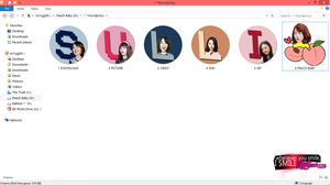 Sulli Peach Icon Folder By Ssuljinri329 by ssuljinri329
