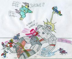 Power Ponies vs Megatron by Jose-Ramiro