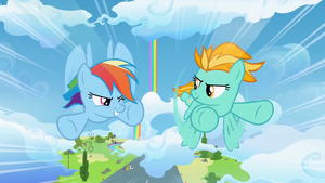 My Little Pony FiM - 3 Season - Wonderbolt Race by GT4tube