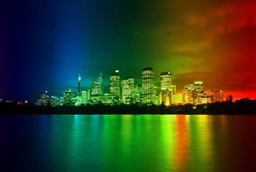 Nightlife and Rainbows by gamesandgigs