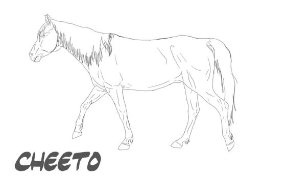 Free Horse Lineart by Tina-Skittles-J