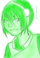 Sketchy style Toph by AleKaiLin