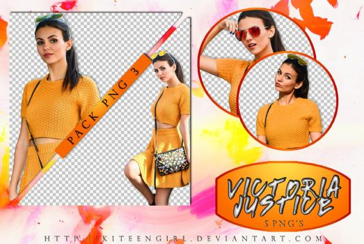 Victoria Justice - PACK PNG 3 by Kiteengirl