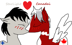 Starlight and Canadai Love! by gregozxm