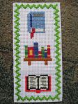 Cross Stitch Book Bookmark by Quina-chan