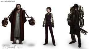 Intelligent Victorian villains by DESTRAUDO