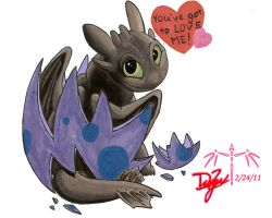Toothless Hatchling by Dizzidragonz
