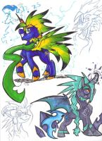 .:Nova and Vale Ponies:. by Silver-HeartCrosser