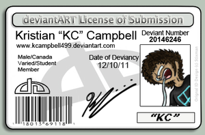 Kristian KC Campbell deviantID by KCampbell499