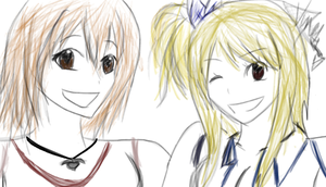 + Elie and Lucy + by Memorii-Chan