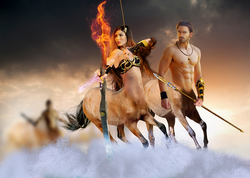 Centaurs by Taitiii
