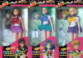Sailor Moon S Outer Bandai Asia Doll Set by aleena
