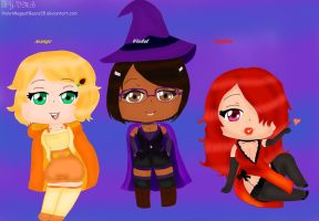 OC: Margo, Violet, Dahlia. Bio (in descriptions) by VioletMageofBears35