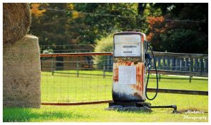 An Old Exxon Farm Gas Pump by TheMan268