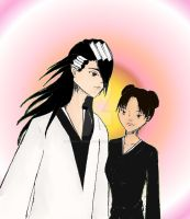Byakuya and Tenten by GoldenDragonClouds