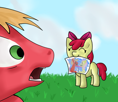 Apple Bloom's Drawing by Angelstar7