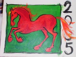 A red horse by ihni