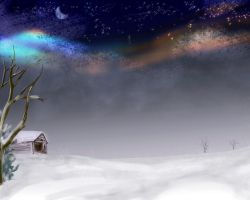 Winter Aurora by clubraf
