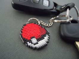 Pokeball Pixel Keychain by Pixelosis