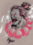Akuma head sketch by renomsad