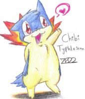 Chibi Typhlosion Comission by MotherGarchomp622