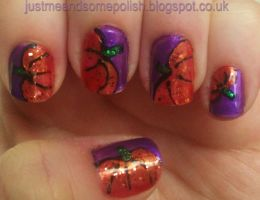 Pumpkin Nail Art by ellie1980