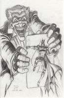 Batman: Joker's 5 Way Revenge pencil sketch by myconius