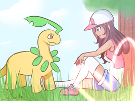 Me and Bayleef by LadySelph