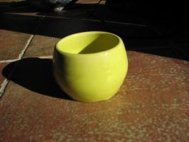 Yellow bowl by Potterycat
