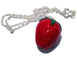 Strawberry Necklace/Charm by delectablycharming