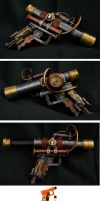 Steampunk Telescopic Pistol by ajldesign