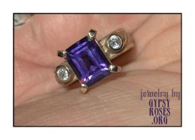 10K Gold Ring with Amethyst by che4u