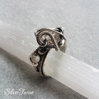Herkimer Diamond Ring by SilverTwine