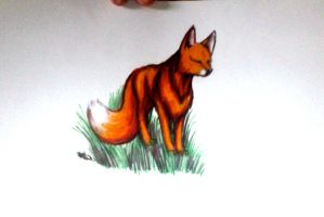 Red Fox by IfreakenLoveDrawing