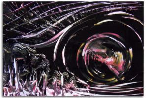 Spray painting Abstract - Parallel World by Airgone