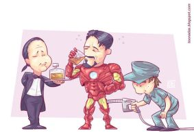 Tony Stark Filling the Tank by Ferlancer