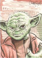 Yoda Sketch Card by ChrisMcJunkin