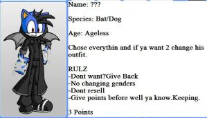 My new character! (adopted) Ray the bat/dog!! by TheMrLfan