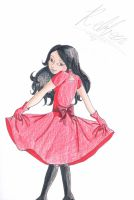 Pretty red sun dress by lillyfoot15