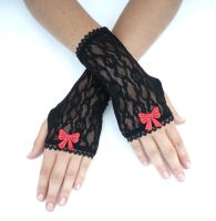 Gothic Lace Gloves BLACK by Estylissimo